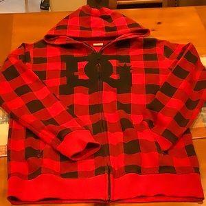 DC young men's zip up hoodie size XL (18-20)